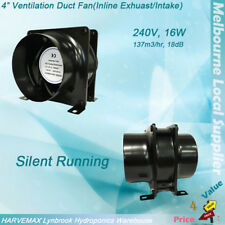 """4"""" Axial Vent Fan Metal Blower Hydroponics Intake Exhaust Ventilation Silent Fan"""