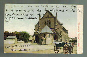 1908 Kimberly South Africa Picture Postcard Cover to England St John's Church