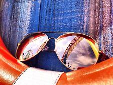 GOLD ROSE Pink Mirror Reflective Lens Women Sunglasses Shadz AVIATOR