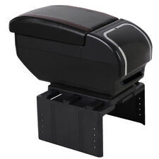 Car Central Container Armrest Box PULeather central store content box cup holder