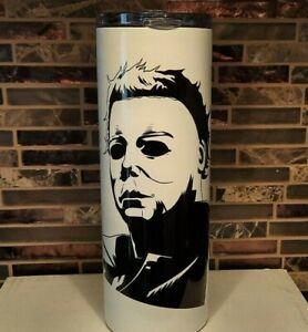 Halloween movie Michael Myers 20oz Stainless steel tumbler. October Mike Mug
