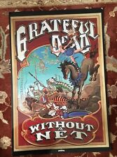 GRATEFUL DEAD  Without A Net  rare LAMINATED promotional poster from 1989