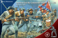 American Civil War Confederado Infantería - 28mm Figuras Perry ACW80-Libre Post