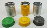 VINTAGE Lot of 3 Aluminum Film Canisters with Caps 2Generic & 1 KODAK