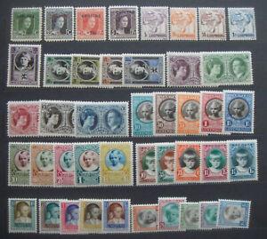 Luxembourg 1924-30 Child Welfare/Semi Postal MNH mints(sideways are MH) sets