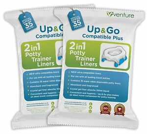 Pote Plus & Oxo Tot Travel Potty Compatible Disposable Liners - New 70 Pack