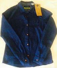 Scotch R'Belle Girls Indigo Blue Shirt. NWT Age 10 Retails $99 Price $34