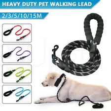 2/3/5/10/15M Padded Handle Dog Recall Lead Leash Pet Puppy Training Obedience