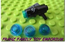 New LEGO Minifig Weapon Star Wars BLACK GUN Shooting Blaster x4 Dark Blue Caps