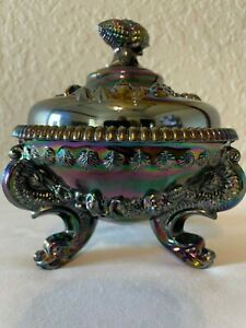Vintage Westmoreland Argonaut Dolphin & Shell Candy Dish - Magnificent Color