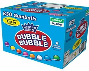 "1"" Gumballs 850 count case vending machines spiral gumball machine $212 Retail"
