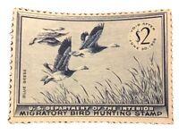 USA Scott #RW22 NH VF $2 Duck Hunting Stamp Unused 1956 US OG H CV $95