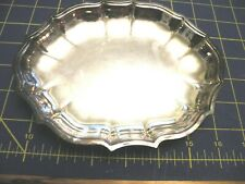 """Chippendale Tray 6394 Vintage International Silver Co. Silverplate  8"""" BY 7"""""""