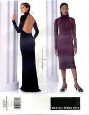 Vogue 2230 Isaac Mizrahi Dress Pattern Backless American Designer 8-10-12 VTG
