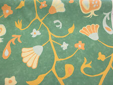Verde Playa Tema, Conchas Marinas & Coral Estampado 100% Algodón Tela De Cortina