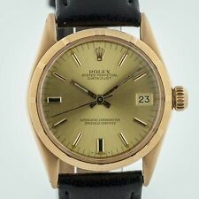 Rolex Oyster Perpetual Datejust Ref 6551 18K Yellow Gold Midsize 30mm Auto 1966