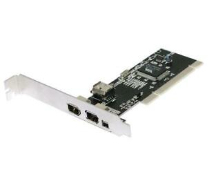 PCI 32bit Firewire400 4 Ports IEEE1394a 6P+4P DV Video Capture Card +Cable