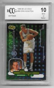 1998 99 Upper Deck Ionix 69 rc DIRK NOWITZKI mavs MINT Rookie card bgs BCCG 10