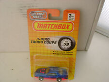 1990 MATCHBOX SUPERFAST MB 59 T-BIRD TURBO COUPE NEW ON CARD