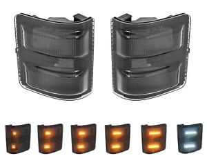 2008-2016 Ford Super Duty Smoked Side Mirror Sequential LED Turn Signal Lights
