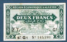ALGÉRIE - DEUX FRANCS Pick n° 102. de 1944 en SUP   2T G1 145,290