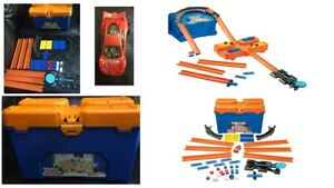 Hot Wheels Track Builder Stunt Box, Connectable Tracks And Mini Toy Car