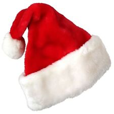 Christmas Party Santa Hat Velvet Red And White Cap for Santa Claus Costume A2L6