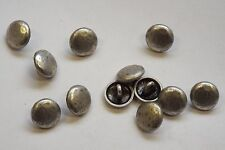 8pc 15mm Pewter Dented Coin Effect Metal Blazer Cardigan Knitwear Button 3613