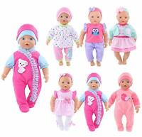 ebuddy Total 6 Lot Sweet Doll Clothes Playtime Outfits Rompers Dress for 10-12