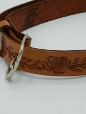 Handmade And Tooled Childs Leather Belt 30 in long