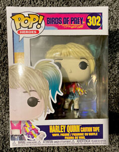 Funko Pop! Heroes: DC Birds of Prey Harley Quinn (Caution Tape) #302 - New