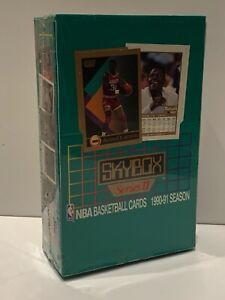 1990-91 SkyBox NBA Basketball Cards Series 2 Factory Sealed Box 36 Packs