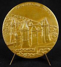Médaille Château de Saumur en Anjou armes blason sc RB Baron French Castle medal