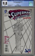 SUPERMAN UNCHAINED #4 - CGC 9.8 - LEE & WILLIAMS B&W VARIANT - 1255778021