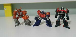 Transformers Titanium Unicron Die Cast Metal 2006 Optimus Prime and Side Swipe