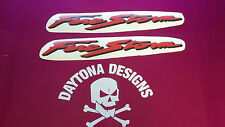 VTR FIRESTORM RED & BLACK BELLY PAN LOWER FAIRING PANEL DECALS STICKERS GRAPHICS