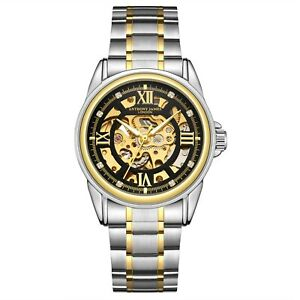 Hand-Assembled Anthony James Skeleton Automatic Two Tone- Men's WatchRRP £650