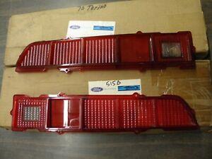 NOS OEM 1970 1971 Ford Torino Tail Light Lens Lenses