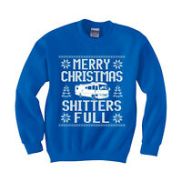 Merry Christmas Shitter's Full funny Sweatshirt Ugly sweater Men's Kids sizes