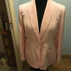 NEW PASTEL PINK BLAZER JACKET - FULLY LINED - SIZE 16 - BY TOGETHER
