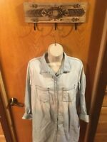 NWT Melrose And Market Chambray Dress Cute Casual Nordstrom Women's Medium (E01)