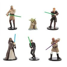 Star Wars Jedi Knights with Light Sabers ~ Figurine Playset Set of 6 Collectible