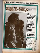 James Taylor Carly Simon Alice Cooper The Byrds Rolling Stone #125 Jan 4 1973