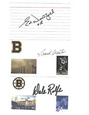 Ed Westfall Signed / Autographed Index Card Boston Bruins
