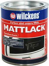 Wilckens Mattlack 750ml (11,33€/L)Kunstharzbasis Tafellack Kunstschmiede SCHWARZ