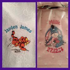 Personalised Soft Fleece Winnie / Eeyore Blanket Unique Newborn Gift Baby Shower