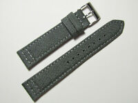 18mm Hadley-Roma MS850 Mens Grey Cordura Canvas Watch Band Strap