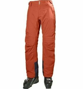 HELLY HANSEN Thunder Insulated Ski Pant 65608 Red Brick Mens Size 2XL