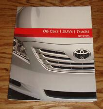 Original 2006 Toyota Car & Truck Full Line Sales Brochure 06 Land Cruiser Camry