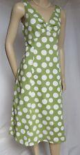 Sommerkleid Boden 38 grün weiß 12 L retro Punkte Baumwolle 50er Urlaub